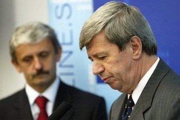 Kukan (vpravo) v SDKÚ zostáva, Dzurinda (vľavo) tam už nie je.