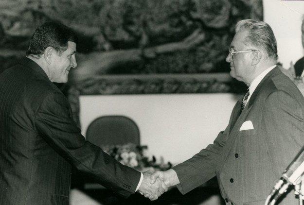 ZVladimíra Mečiara aMichala Kováča sa stali najväčší politickí nepriatelia.