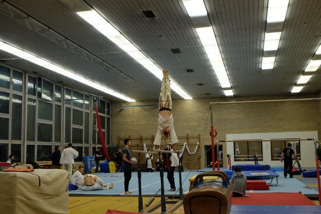 Denis Seliak, akrobat a parkourista.
