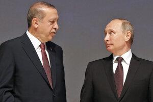 Šéf Kremľa Vladimir Putin a turecký prezident Recep Tayyip Erdogan.