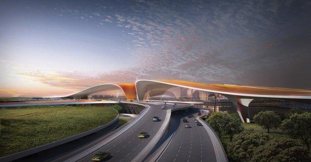 Vizualizácia terminálu na novom letisku.