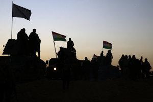 Príslušníci kurdských polovojenských jednotiek péšmarga.