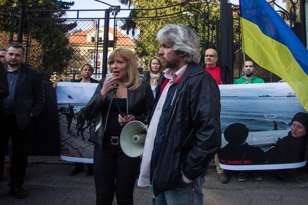 Iveta Radičová a Andrej Bán.