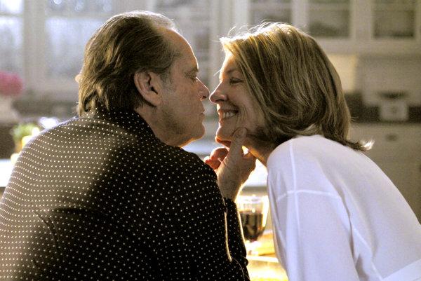 Jack Nicholson a Diane Keaton v komédii Lepšie neskoro ako nikdy (