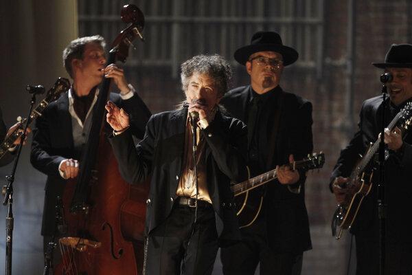 Na snímke Boby Dylan v popredí.