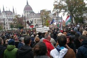 Nedeĺňajšia spomienka na výročie protisovietskej revolúcie z roku 1956 v Maďarsku sa niesla v protivládnom duchu.