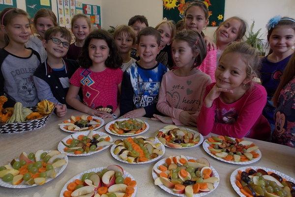 Školáci sa stravovali zdravo.