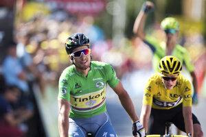 Peter Sagan a Chris Froome v11: etape Tour de France 2016.