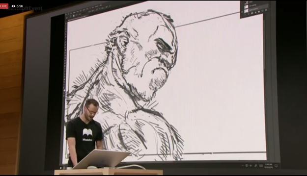Prácu Surface Studia a pera Surface ukázali naživo.