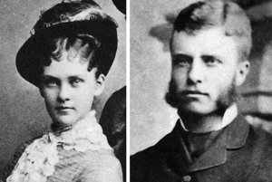 Theodore Roosevelt s manželkou Edith.