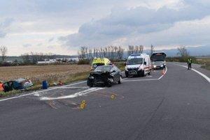 V Horných Semerovciach sa stala vážna dopravná nehoda.
