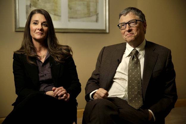 Melinda Gates, filantropka a podnikateľka, s manželom Billom Gatesom
