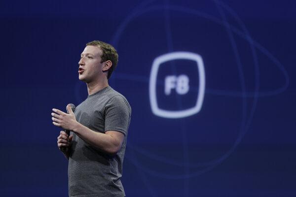 Zakladateľ a výkonný riaditeľ Facebooku Mark Zuckerberg v San Franciscu.