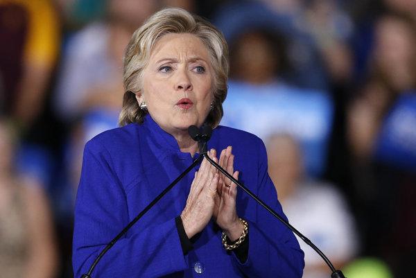 Kandidátka na prezidentku USA Hillary Clintonová.