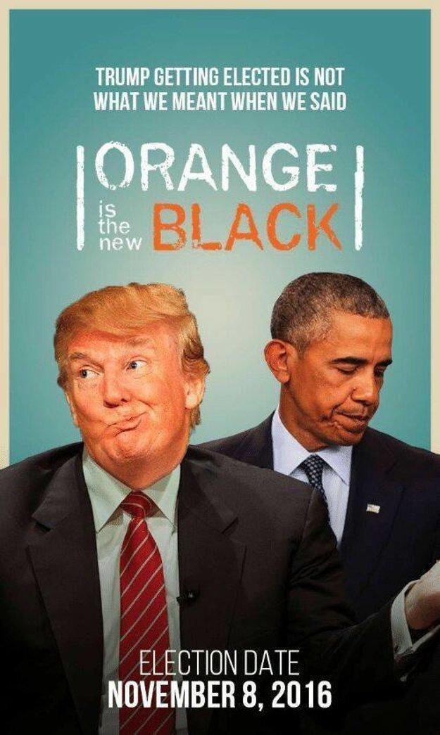 Zvolenie Trumpa za prezidenta nie je to, čo sme mysleli, keď sme povedali, že oranžová je nová čierna.