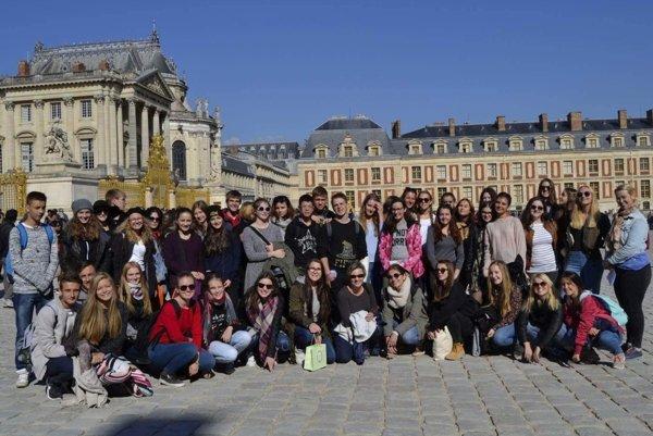 Gymnazisti počas pobytu vo Francúzsku absolvovali mnoho výletov.