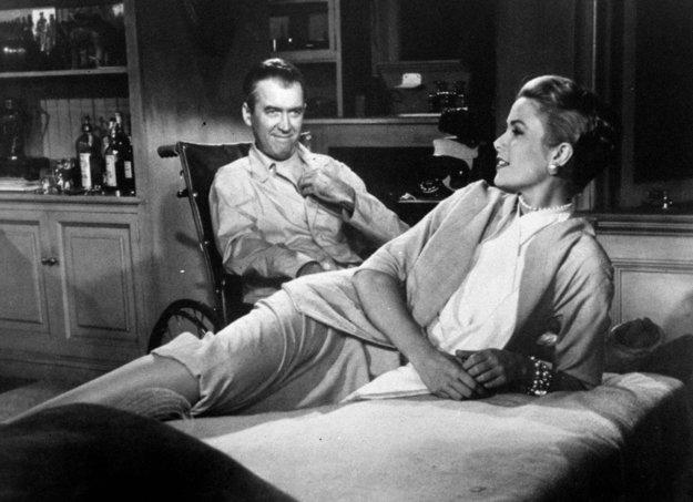 S Jimmym Stewartom vo filme Okno do dvora