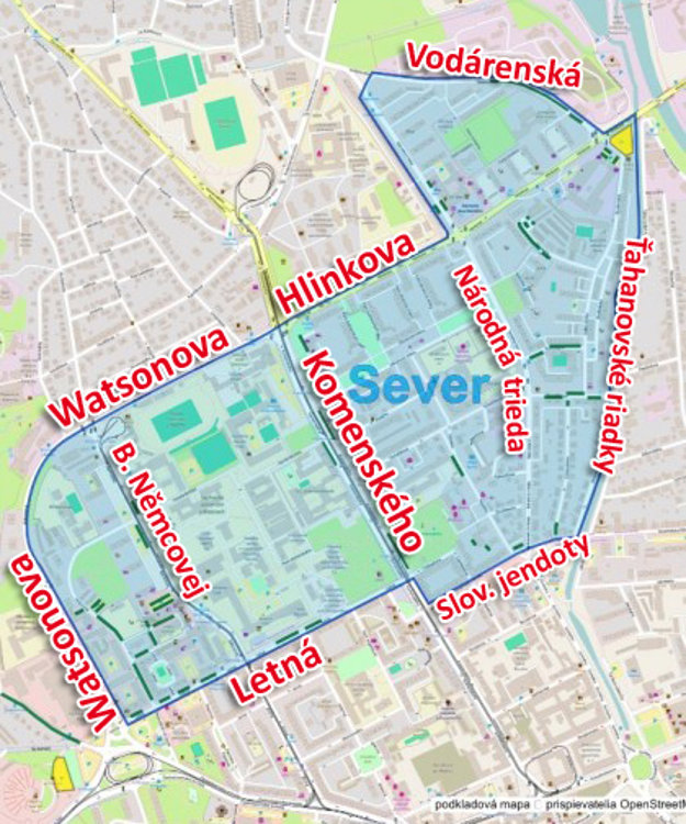 Spoplatnená zóna na Severe. Takto by mohla vyzerať po schválení mestským zastupiteľstvom vdecembri.