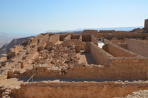 Pevnosť Masada, Izrael.