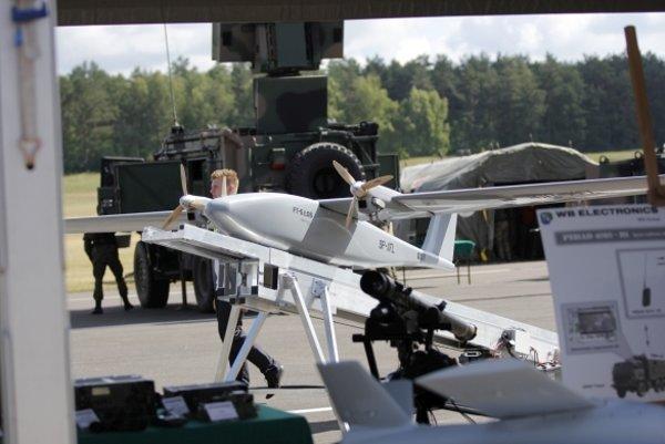 Taktické bezpilotné lietadlo Los na cvičení Anakonda 2016.