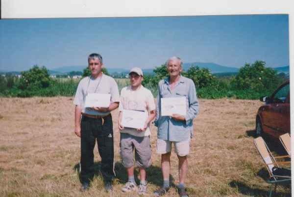 Trojica nestorov. Zľava Milan Minarik, Gabriel Hudák a Alexander Ember.