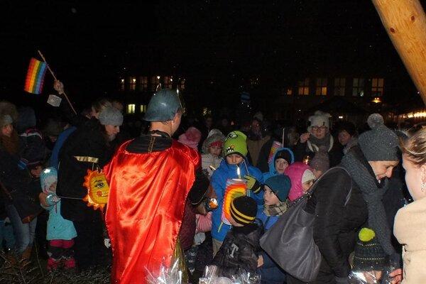 Svätý Martin potešil všetky deti, ktoré sa podujatia zúčastnili.