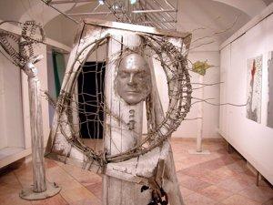Z výstavy Juraja Meliša v Budapešti v roku 2005.