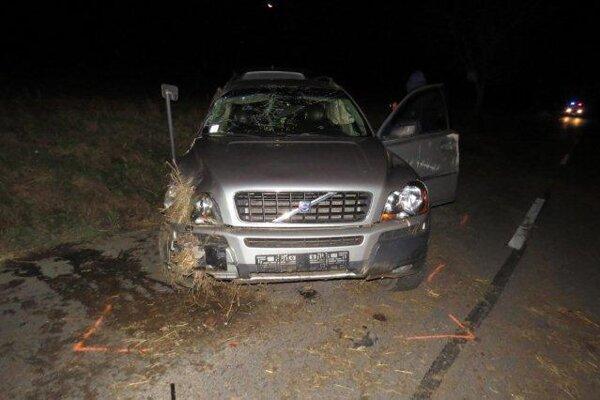 Auto narazilo do priekopy.
