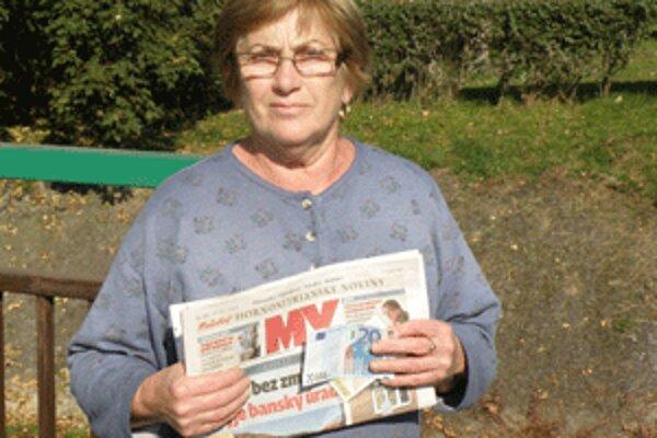 Anna Herbríková kupuje Hornonitrianske noviny každý týždeň.