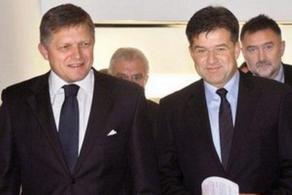 Slovenský premiér Robert Fico počas kontrolného dňa na ministerstve zahraničných vecí.