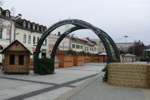 Vianočná dedina.