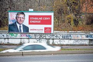 Robert Fico sľubuje v kampani stabilné ceny energií.