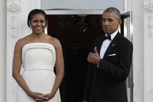 Barack Obama s manželkou Michelle.