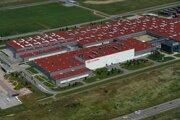 Letecký pohľad na fabriku KIA.
