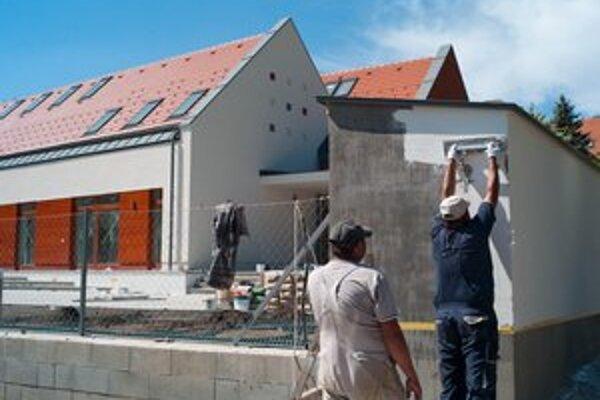 Výstavba Slovenského spoločenského domu v severomaďarskej obci Mlynky.