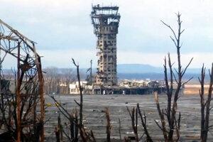 Donecké letisko dnes.