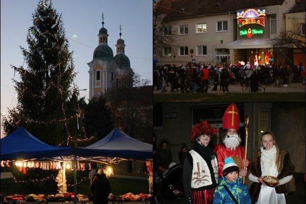 Námestie  hrdinov sa zmenilo na vianočné mestečko
