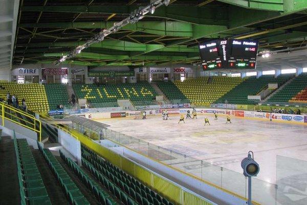 Interiér zimného štadióna v Žiline.