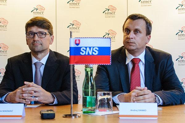 Marek Maďarič (Smer) a Andrej Danko (SNS) majú dlhodobý spor o RTVS.