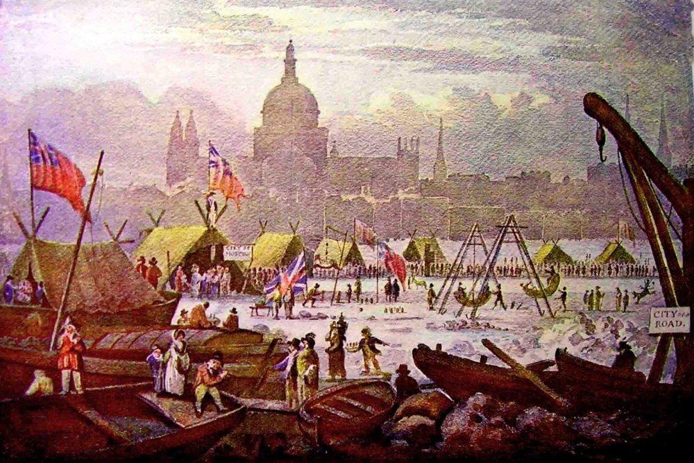 Thomas Wycke, Posledný Frost Fair konajúc sa v roku 1814.