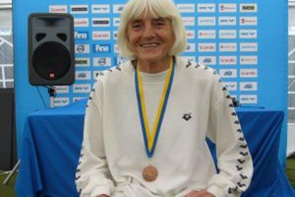 Mária Hausnerová štartovala už na piatych majstrovstvá sveta veteránov v plávaní.