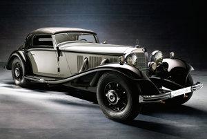 Najobľúbenejšou karosériou boli kabriolety. Na fotografii Mercedes - Benz 500K kabriolet.