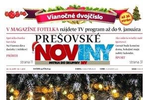 Titulná strana vianočného dvojčísla týždenníka Prešovské noviny 2016.
