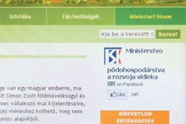 Zo stránky ministerstva pôdohospodárstva zmizla angličtina.