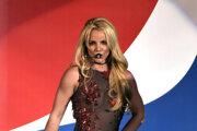 Britney Spearsová počas vystúpenia.
