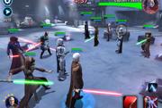 Súboj v hre Star Wars: Galaxy of Heroes. (Záber zo staršej verzie verzie.)