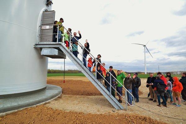 Veterné turbíny v Eeklo.