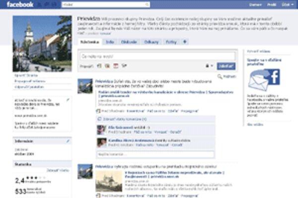 Stránka Prievidza má na Facebooku už viac ako 5500 priaznivcov.