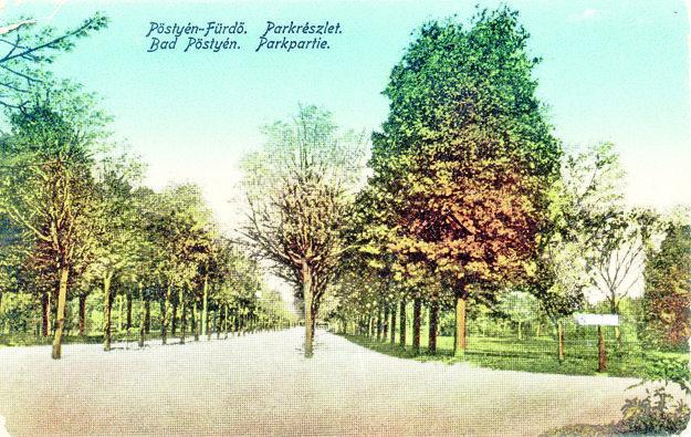 Park má niekoľko hektárov.