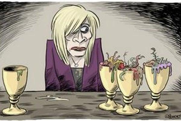 Radičová o sebe tvrdí, že ako politička je vďačný objekt pre humor.